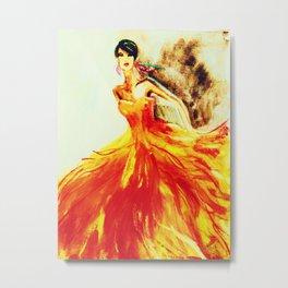 Flame Dress Metal Print