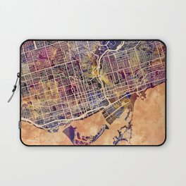 Toronto Canada Street Map Laptop Sleeve