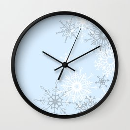 snowflake LOVE Wall Clock