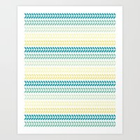 knit Art Prints featuring Knit 1 by K&C Design