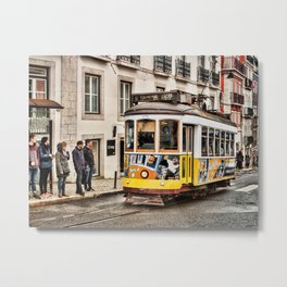 No 28 Tram in Lisbon Metal Print