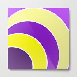 Purple & Gold Circles Metal Print