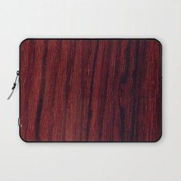 Deep red wood veneer design Laptop Sleeve