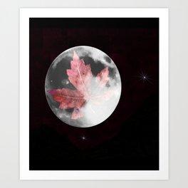 Leaf Raker's moon Art Print