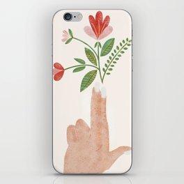 Floral Pistol iPhone Skin