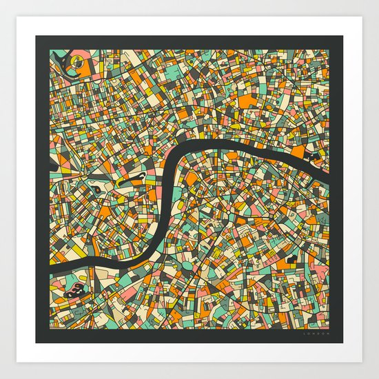 LONDON MAP by jazzberryblue
