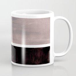 Mid Century Modern Minimalist Art Colorblock Rothko Inspired Squares Grey and Black Simple Abstract Coffee Mug