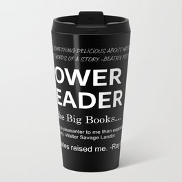 Power Reader Metal Travel Mug