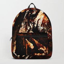 horse splatter watercolor Backpack