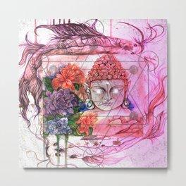 Electric dreams buddha Metal Print