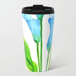 blue calla lily 2 Travel Mug
