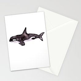Watercolor Orca Killer Whale Stationery Cards