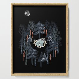 fairytale night forest Serving Tray
