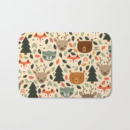 Woodland Creatures Bath Mat