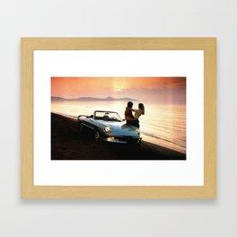 Love&Sunset Framed Art Print