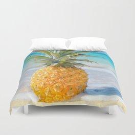 Aloha Pineapple Beach Kanahā Maui Hawaii Duvet Cover