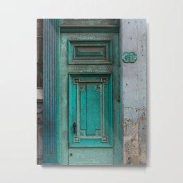Green Door in Havana Cuba Metal Print