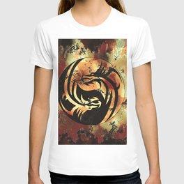 Yin and Yang Dragons Artwork T-shirt