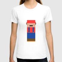 super mario T-shirts featuring Super Mario by Andrea Ramirez