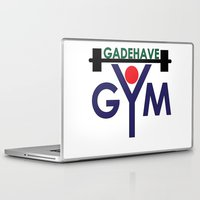 gym Laptop & iPad Skins featuring Gadehave Gym by Søren Grarup Munk