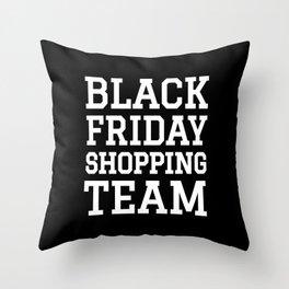 Black Friday Shopping Team (Black & White) Throw Pillow