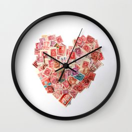 A Heart For Postage Wall Clock
