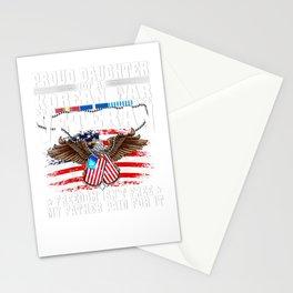 Proud Daughter Of Korean War Veteran Military Vets Family T Shirt Stationery Cards