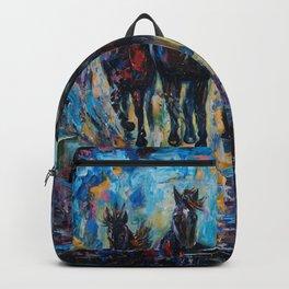 Horses Roaming Free Painting Backpack