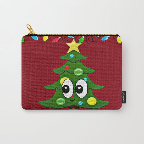 Emoji Christmas Tree Carry-All Pouch