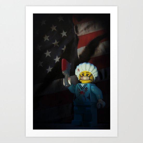 American Psycho in LEGO Art Print