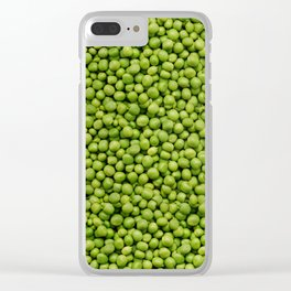 Green Peas Texture No1 Clear iPhone Case