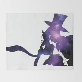Sailor Moon Tuxedo Mask - Purple Galaxy Throw Blanket