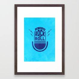 Rock'N'Roll Framed Art Print