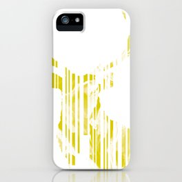 Geometric Yellow Stag iPhone Case