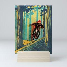 RETRO MOUNTAIN BIKE POSTER LOG JUMPER Mini Art Print