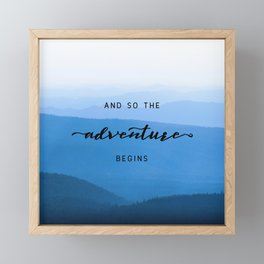 Smoky Mountains -  And So The Adventure Begins Framed Mini Art Print