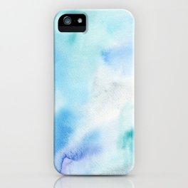 Abstract Watercolor. Shining Ice iPhone Case