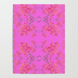 Orchids on Lavender Poster