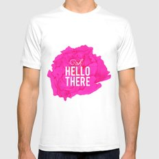 Oh, Hello There White MEDIUM Mens Fitted Tee