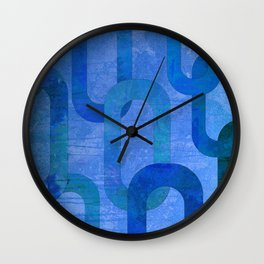 Blue Links Wall Clock