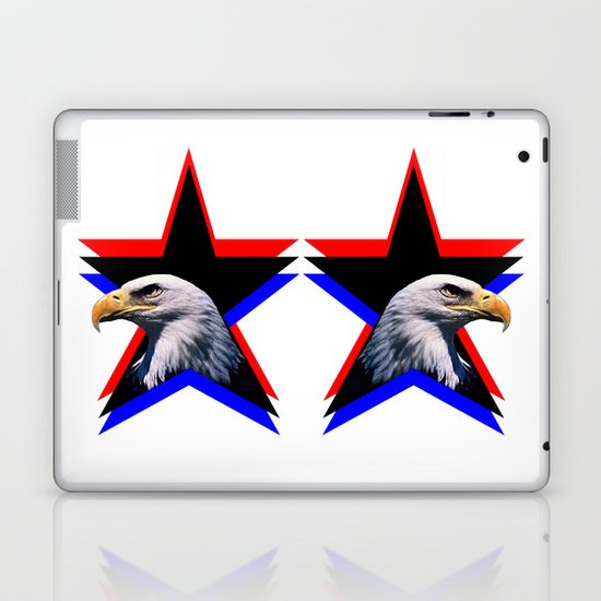 Bald eagle & the three star Laptop & iPad Skin
