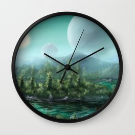 Alien Landscape Wall Clock