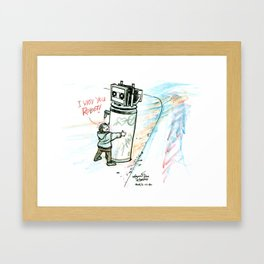 """I Wuv you Robot"" Framed Art Print"