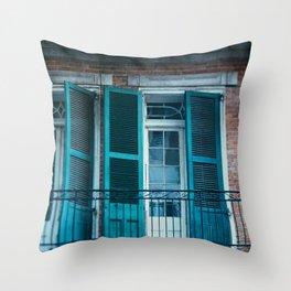 French Quarter Blues, No. 1 Throw Pillow