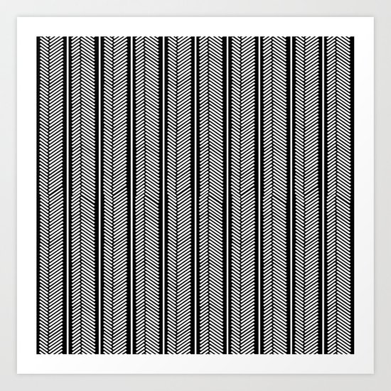 Herringbone Stripe Art Print