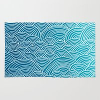 waves Area & Throw Rugs featuring Waves by Arcturus