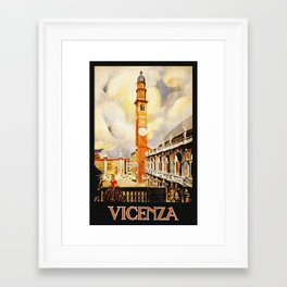 Vintage Vicenza Italy Travel Framed Art Print
