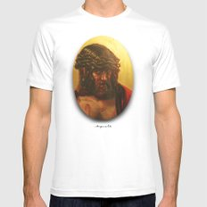 Cristo White Mens Fitted Tee MEDIUM