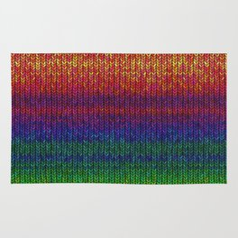Rainbow Knit Photo Rug