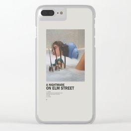 Elm Street Nightmare Minimal Movie Poster No 01 Clear iPhone Case